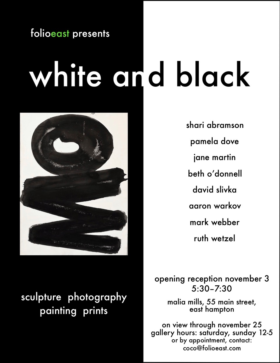 White and Black, East Hampton